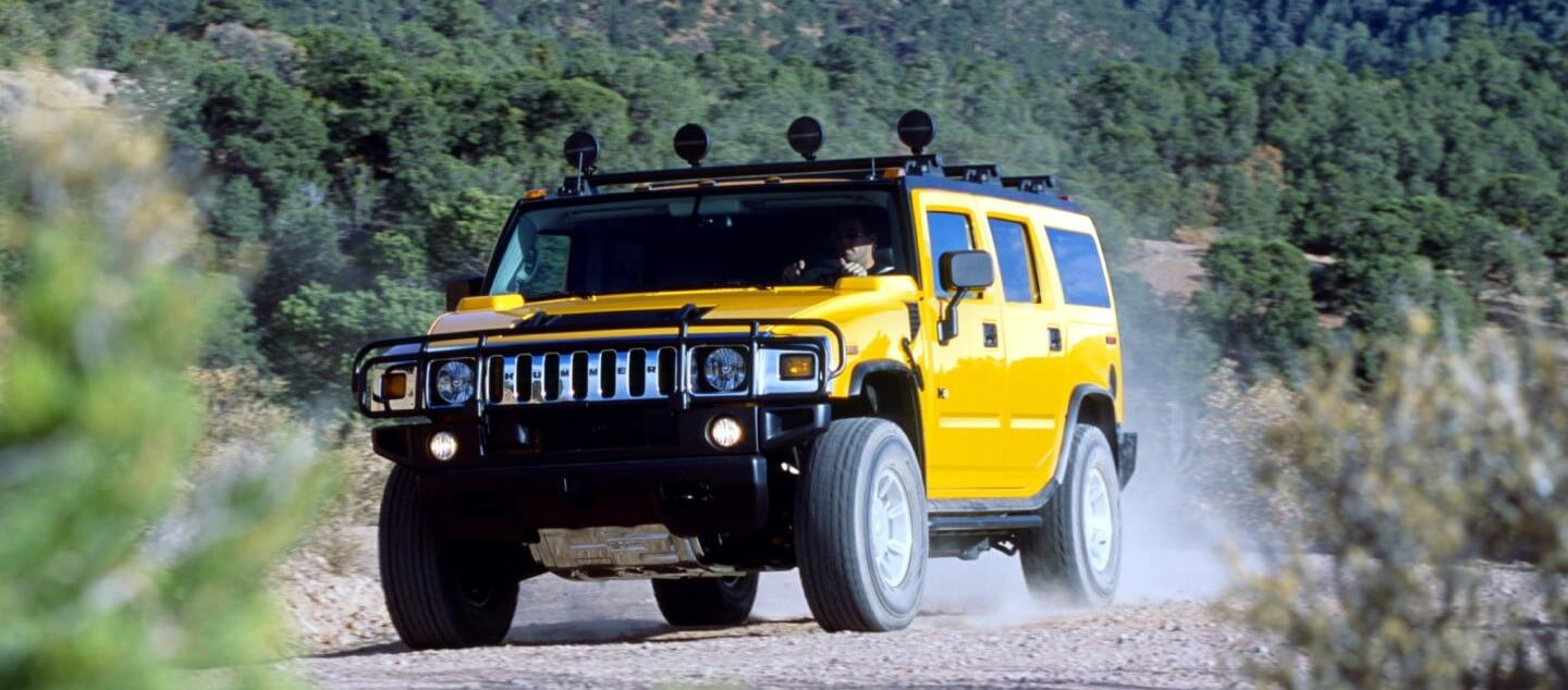 hummer driving